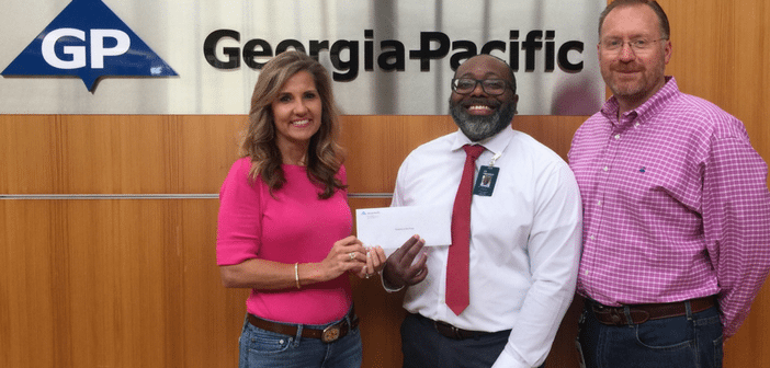 Georgia-Pacific Makes Contribution to Hospice in the Pines