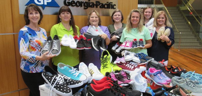 Georgia-Pacific Employees Collect Shoes for Needy Angelina County Students